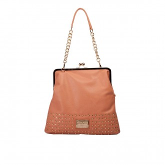 Oversized Studded Clasp Top Purse