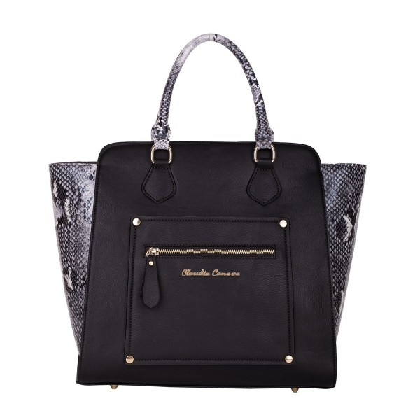 Twin Strap Zip Top Tote Style Bag
