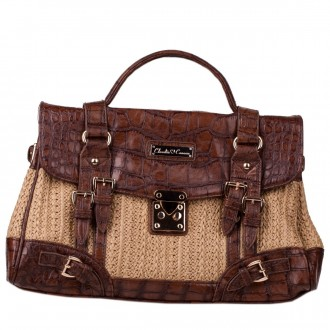 Single Strap Satchel Style Croc Trim