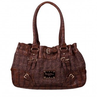 Twin Strap E/W Croc Trim Shoulder