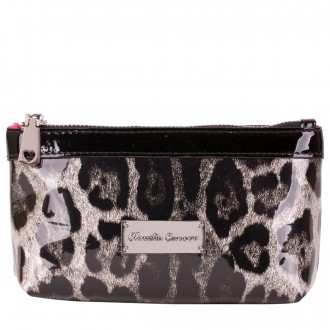 Patent Effect Zip Top Cosmetic Bag
