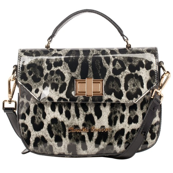 High Shine Leopard Print Cross Body