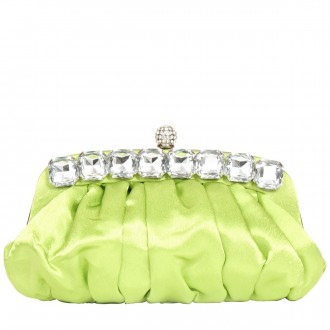 Jewel Edged Clasp Top Clutch