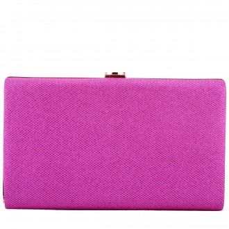 Hard Cased Clasp Top Clutch
