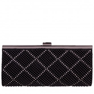 Structured Clasptop Pearl Covered Clutch