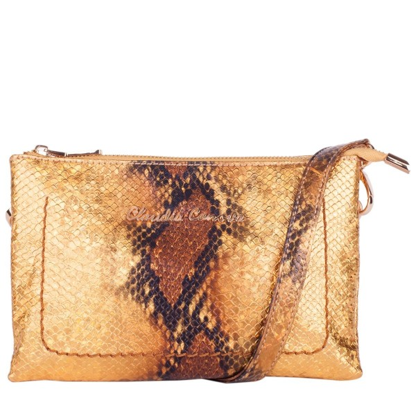 Pearlescent Snake Cross Body