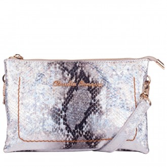 Zip Top 3 Section Pearlescent Cross Body