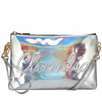 """claudia Canova"" Embossed Zip Top Clutch"