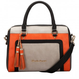 Twin Strap Bowling Style Two Tone Bag