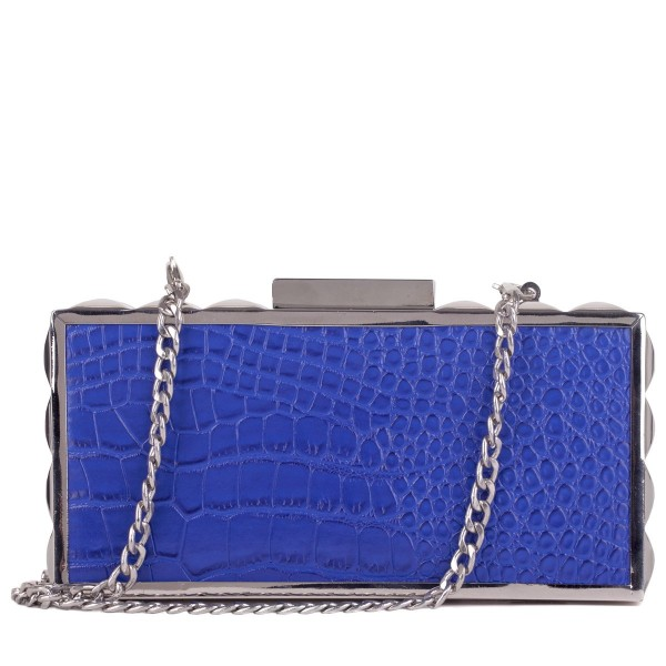 Croc Print Clutch Bag & Chain