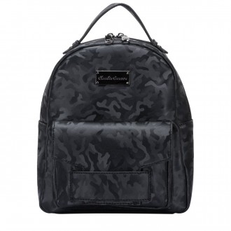 Camo Print Zipped Pocketed Backpack