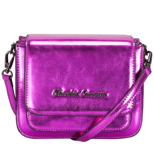Metallic Small Flapover Cross Body