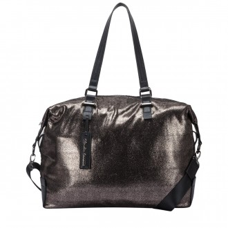Metallic Print Large Twin Strap Shoulder