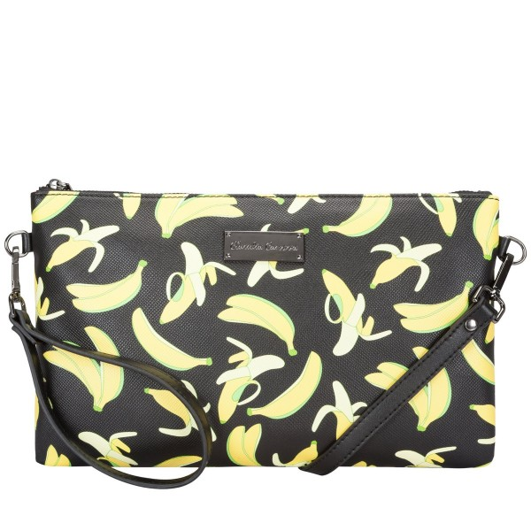 Banana Print - Zip Top Clutch/cross Body