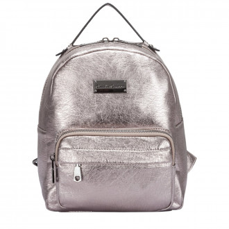 BACKPACK METALLIC FABRIC FRONT POCKET