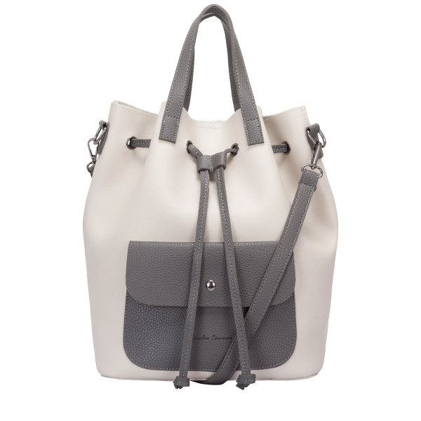 Gaya Contrast Drawstring Bucket Bag