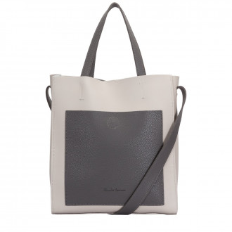 CONTRAST TWIN STRAP TOTE STYLE