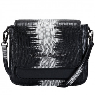 Lizard Print Flap Over Cross Body