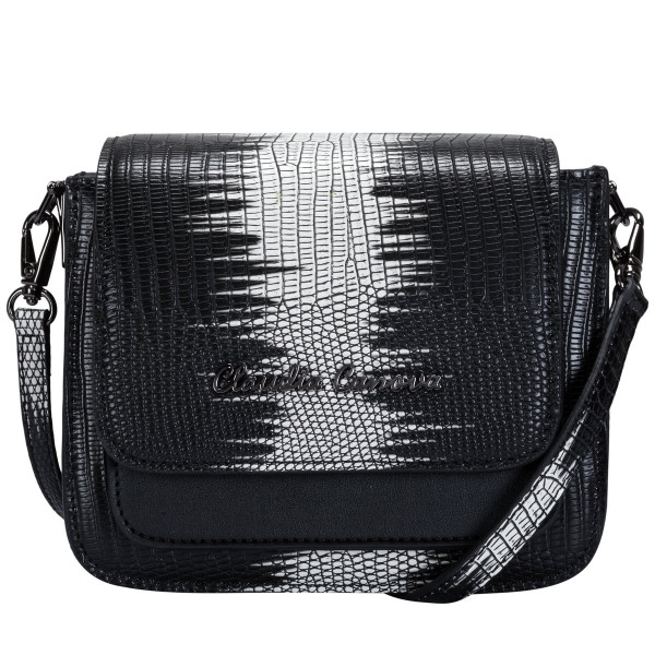 Lizard Print Flapover Cross Body
