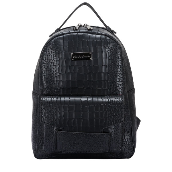 Croc Print Zipped & Pocketed Backpack