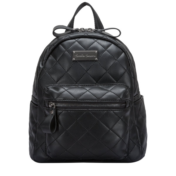 Backpack Quilted Zip Top Front Pocket
