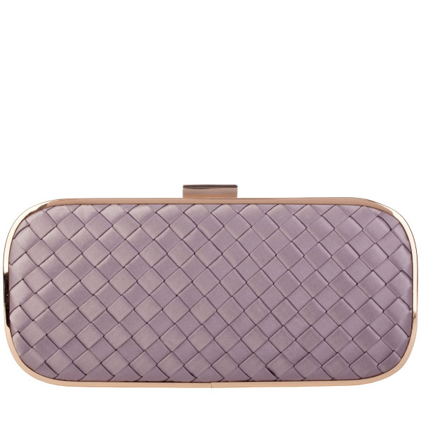 Woven Effect Clasp Fastening Clutch