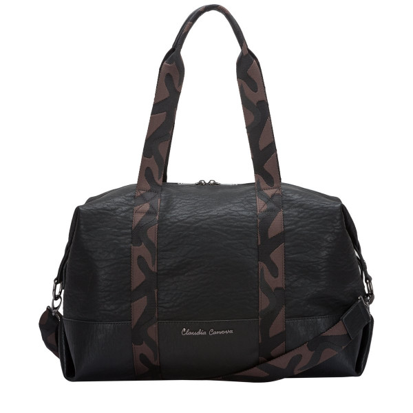 Shoulder Bag Zip Top With Camo Strapping