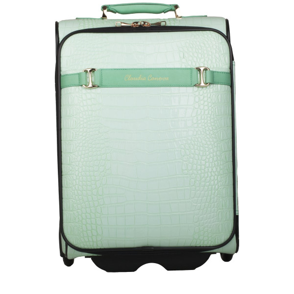 Tall Croc Print Trolley Case