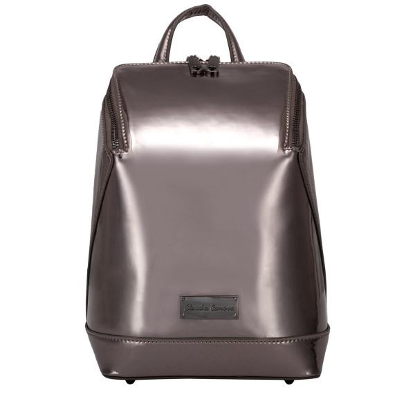 Backpack Mirrored Metallic Zip Top