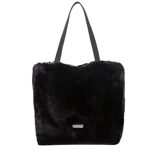Twin Strap Faux Fur Tote