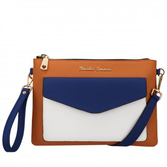 ENVELOPE FRONTED ZIP TOP CLUTCH/X-BODY