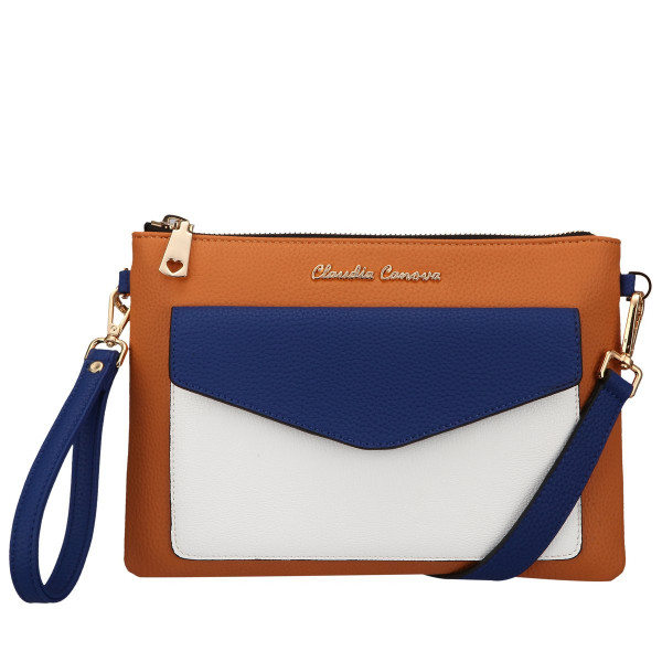 Colour Block Envelope Crossbody / Clutch