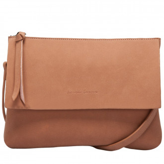 Cocao Suede Effect Flapover Crossbody