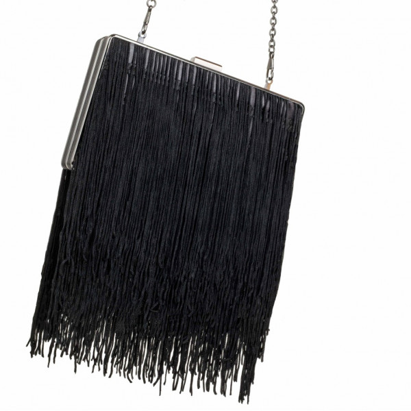 Tassel Fringed Clutch Bag & Chain