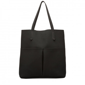 Adella Suede Effect Pocketed Tote Bag