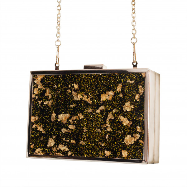 Gold Flake Clutch & Chain