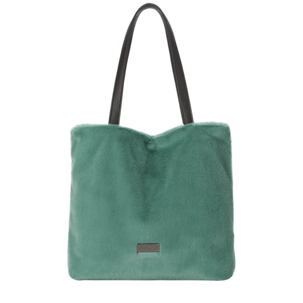 Faux Fur Shoulder / Tote Bag