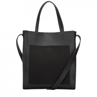 Choris Suede Effect Pocket Front Tote