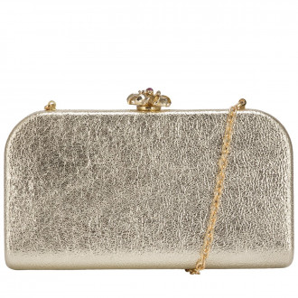 Oblong Rounded Hardcase Clasp Top Clutch