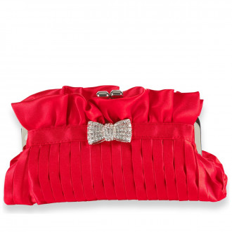 Satin Bow Detailed Clutch