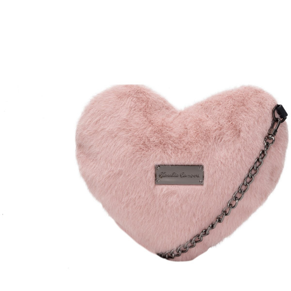 Kota Faux Fur Heart Shaped Cross Body