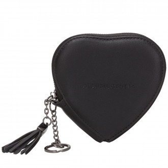 Zip Round Heart Shaped Purse