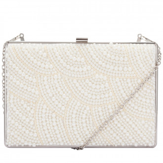 Beaded Bridal Clutch Bag & Chain