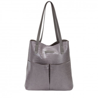 Annalise Xl Croc Print Tote Bag