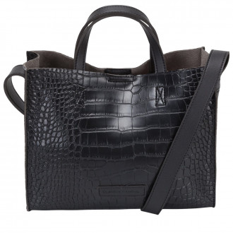 Selena Small Twin Strap Croc Effect Tote