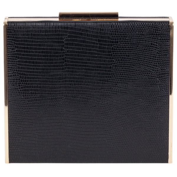 Clasp Fastening Box Clutch Bag