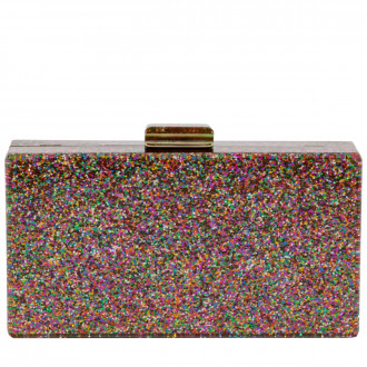 Cc Glitter Case Clutch