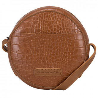 Freya Circular Croc Effect Cross Body