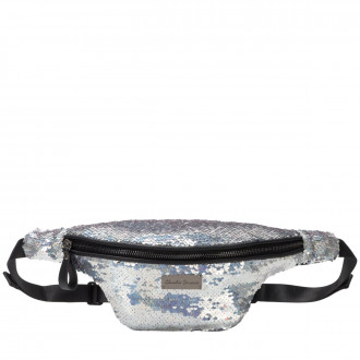 Rocklit Zip Top Sequined Bumbag