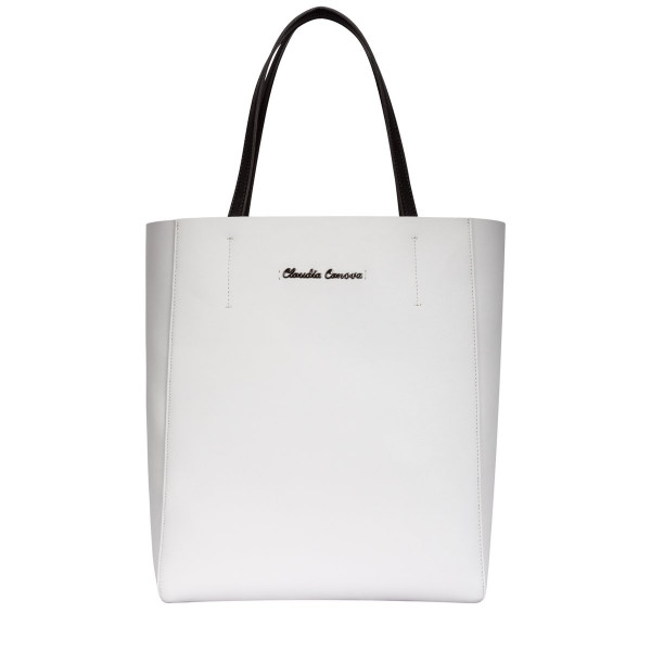 Twin Strap Tote With Contrasting Inner